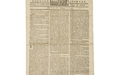 Pre-Revolutionary War Boston Newspaper with Paul Revere