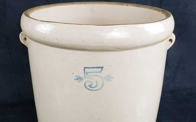 5 Gallon Salt Glaze Handled Stoneware Pot