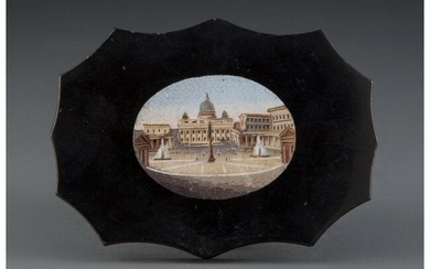 61002: An Italian Micro Mosaic Paper Weight Depicting a