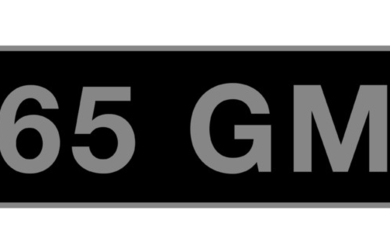 '65 GM' - UK vehicle registration number