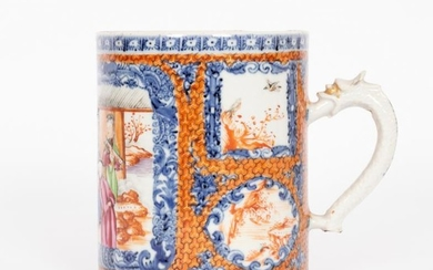 A Chinese famille rose export cylindrical mug, Qianlong, with...