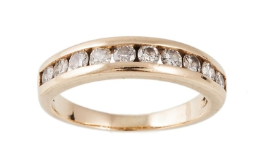 A DIAMOND HALF ETERNITY RING with diamonds of approx 0.80 ct...