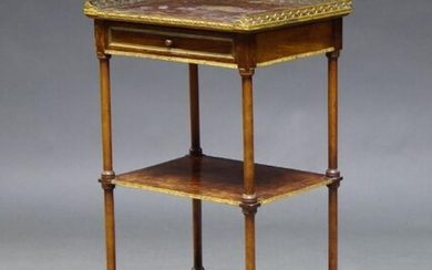 A French mahogany and gilt metal mounted...