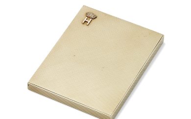 A GEORGE V 9 CARAT GOLD CIGARETTE-CASE, MARK OF CARTIER, LONDON, 1934