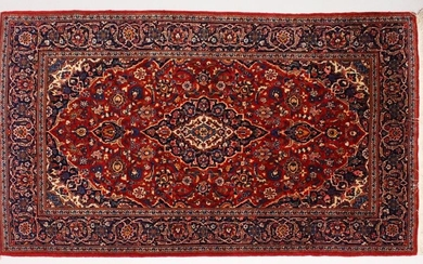 A GOOD KASHAN RUG, first half of 20th Century red