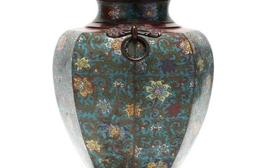 A Large Chinese Cloisonne Jar