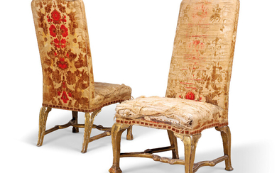 A PAIR OF GEORGE I GILT-GESSO SIDE CHAIRS, CIRCA 1715