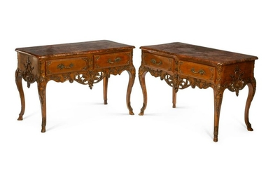 A Pair of Regence Style Console Tables
