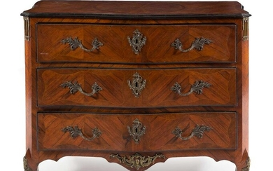 A Regence Style Bronze Mounted Rosewood Commode