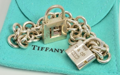 A TIFFANY & CO. BRACELET, the belcher link bracelet with pad...