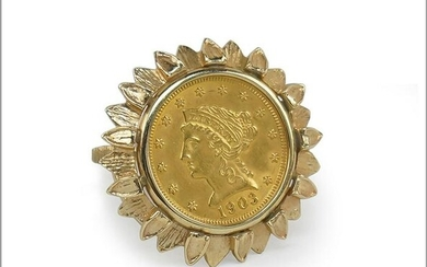 A United Stated 1903 $2.5 Gold Coin Ring.