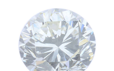 A brilliant-cut diamond, weighing 0.85ct, with report, within a security seal.
