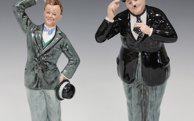 A pair of limited edition Royal Doulton figures, Stan Laurel, HN2774, and Oliver Hardy, HN2775, both