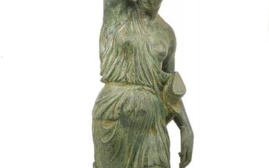 A patinated resin model of Diana, after...