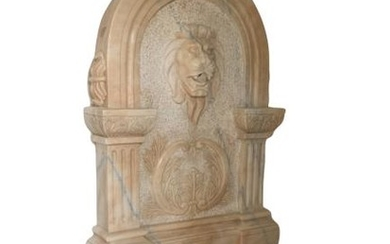 "AMAZING MARBLE LION HEAD 60"" INDOOR WATER FOUNTAIN"