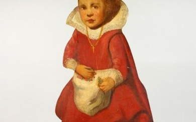 AN 18TH CENTURY STYLE DUMMY BOARD, painted as a young