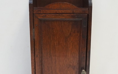 ANTIQUE AMERICAN OAK WALL CABINET KITCHEN