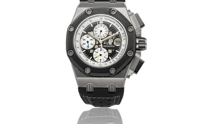 AUDEMARS PIGUET ROYAL OAK OFFSHORE | RUBENS BARRICHELLO II LIMITED EDITION 26078IO.OO.D001VS.01, A TITANIUM AND BLACK CERAMIC AUTOMATIC CHRONOGRAPH WRISTWATCH CIRCA 2009