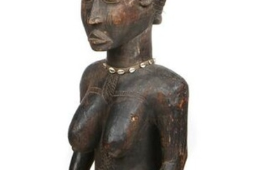 African Baule Figure of a Kneeling Woman