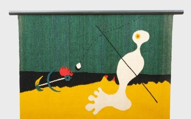 After Joan Miro (1893-1983): Person Throwing a Stone at