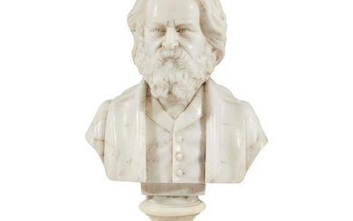 American School 19th century Small marble bust of Henry...