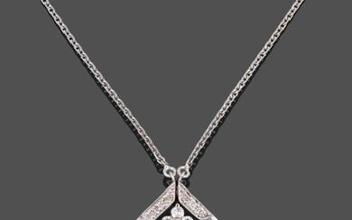 An 18 Carat White Gold Diamond Necklace, to be worn...