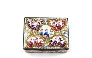 An 18th Century Berlin Enamel snuff box, decorated to all si...