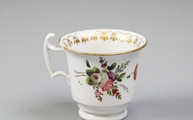 An early 19th century Welsh porcelain coffee cup, probably S...