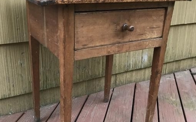 Antique 19th C American Single Drawer End Table