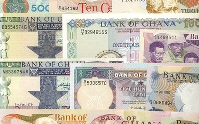 Bank of Ghana, a group of more modern issues including: (TBB 111-3, 116, 117, 119, 124, 128-9,...