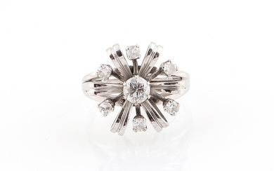 Brillant Damenring zus. ca. 0,65 ct