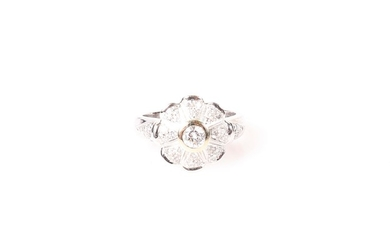 "Brillant Damenring zus. ca. 0,70 ct ""Blume"""