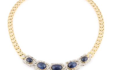 Brillant Saphir Collier