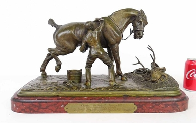 Bronze Man and Horse