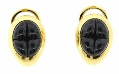 CHIC Pomellato 18k Yellow Gold & Garnet Earrings!