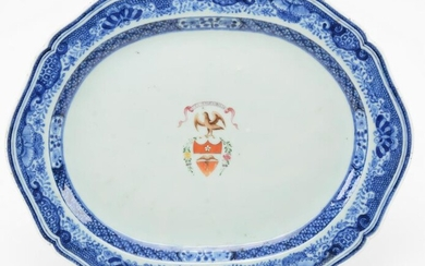 Chinese Export porcelain Fitzhugh decorated platter