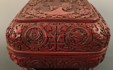 Chinese Lacuqare Ware Square Box and Cover, Qianlong