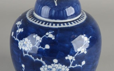 Chinese porcelain ginger jar with blossom branch