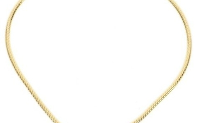 DIAMONDS, GOLD, TIGHT CURB LINK NECKLACE