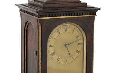 ENGLISH | AN INLAID ROSEWOOD MANTEL CHRONOMETER, LATE 18TH CENTURY AND LATER