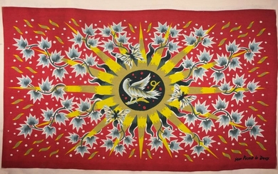 FRENCH TAPESTRY JEAN PICART LEDOUX MODERNIST Soleil