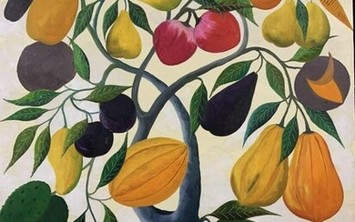 Fernand Pierre Signed Fruit Tree Oil Painting