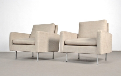 Florence Knoll, a pair of chairs, model 25 BC for Knoll International (2)