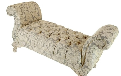 French-Style Tufted Window Bench