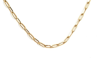 GOLD CABLE LINK NECKLACE, 16.2g
