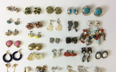 Grouping of Vintage Clip On Earrings