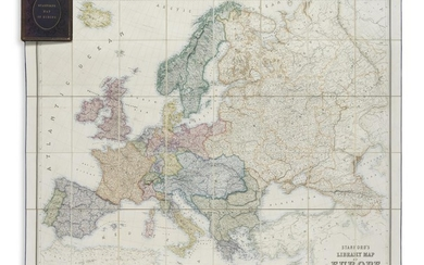 JOHNSON, A. KEITH; and STANFORD, EDWARD. Stanford's Library Map of Europe.