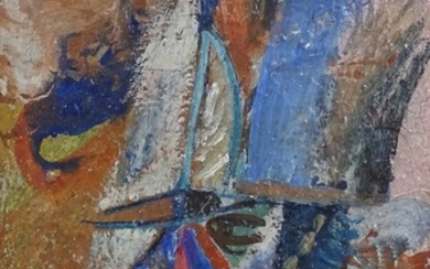 Jan Wieliczko (1919 - 1998), oil on canvas, abstract composi...
