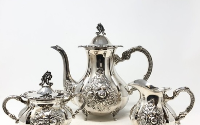 Coffee service by Kühn, 925 Sterling Silver (3)