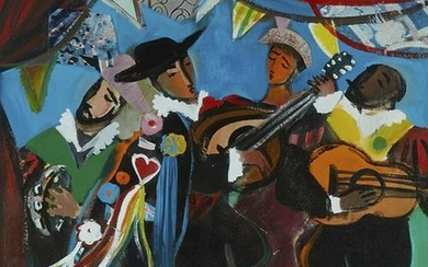 Kelly Sutherland Musicians Acrylic on Paper